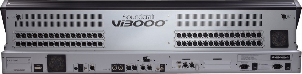 The rear of the Soundcraft Vi3000