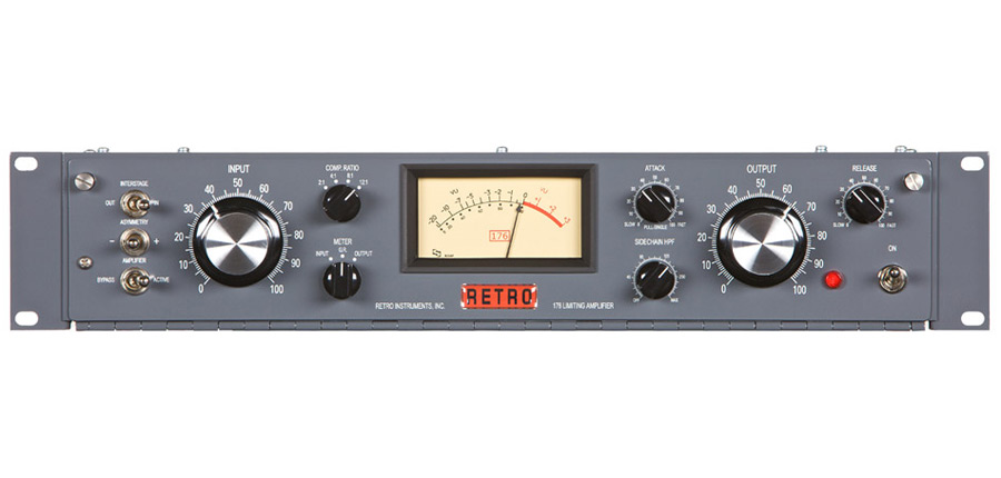 Retro Instruments 176 single channel compressor limiter compression tube 1 ch variable mu gain face front panel