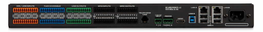 Q-SYS Core 110f front and back