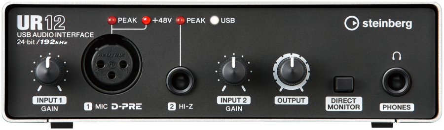 Front of the Steinberg UR12 USB Audio Interface UR 12