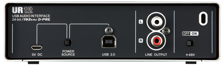 Rear of the Steinberg UR12 USB Audio Interface UR 12