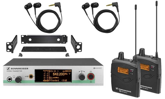 Sennheiser EW 300-2 IEM G3 Wireless In-Ear Monitoring System In Ear EW3002IEMG3
