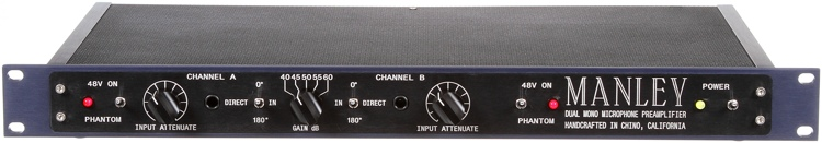 Manley Labs Dual Mono Microphone Preamplifier mic preamp pre two channel 2 ch dual face front panel DMMPX