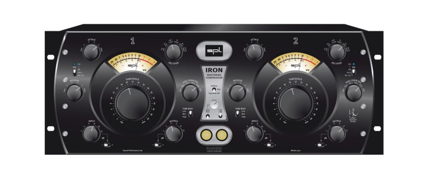 SPL Iron Mastering Compressor tube vintage compression face front panel