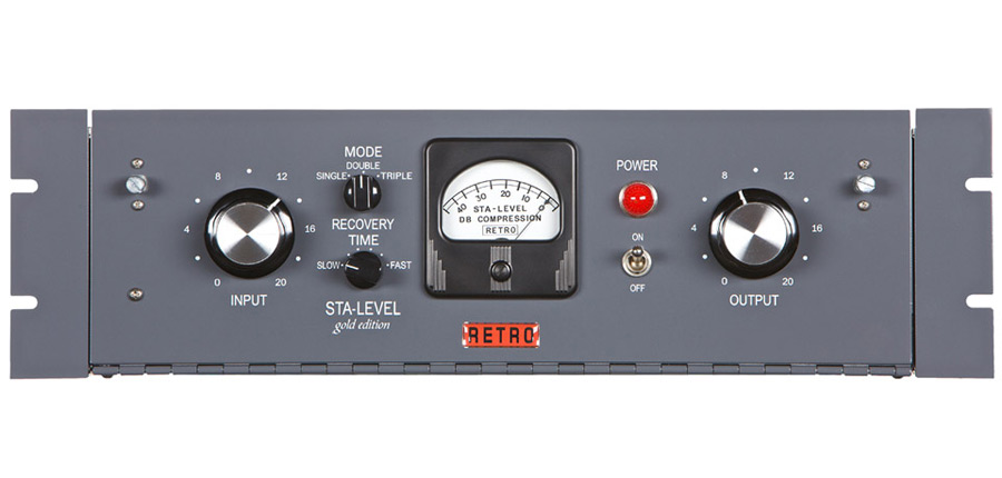 Retro Instruments Sta-Level Single Channel Tube Compressor limiter compression limiting vacuum tube Gates face front panel