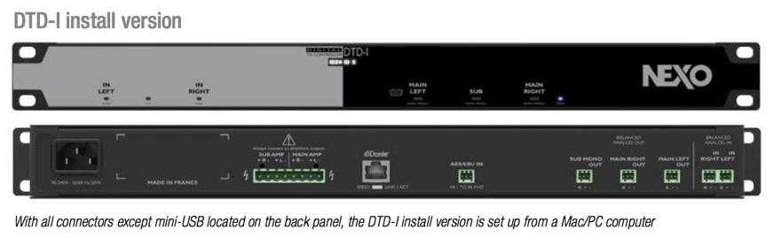 NEXO DTD Controller DTD-I Install Version