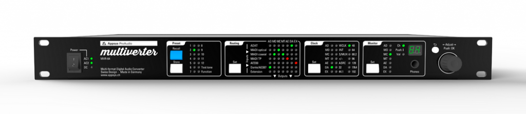 Multiverter MVR-64 front panel view