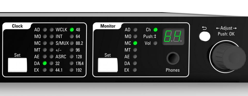 Multiverter MVR-64 front panel close up