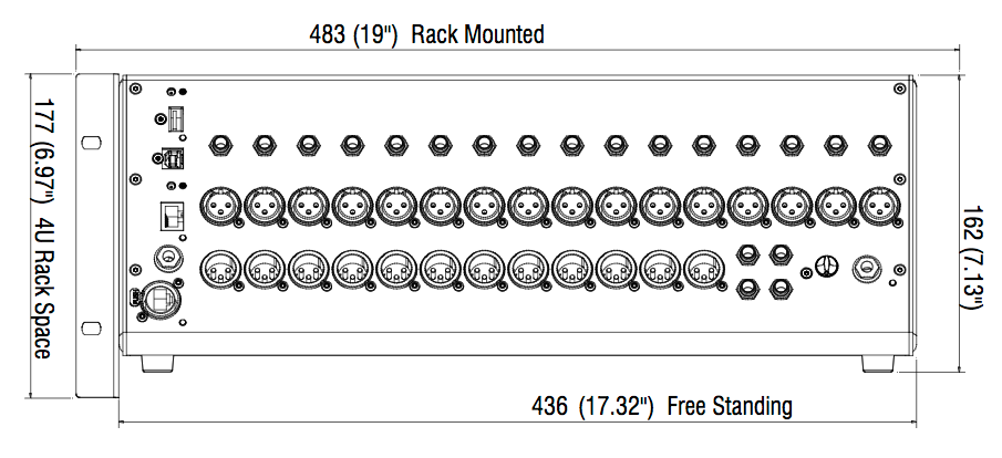 Qu-SB Optional Rack Kit diagram